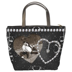 Diamond Studded Love Bucket Bag By Lil    Bucket Bag   Dkjm0orb3971   Www Artscow Com Back