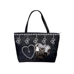 Black & Diamond Love Shoulder Handbag By Lil    Classic Shoulder Handbag   Uzhlcpbhx38e   Www Artscow Com Front