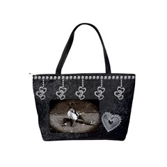 Black & Diamond Love Shoulder Handbag By Lil    Classic Shoulder Handbag   Uzhlcpbhx38e   Www Artscow Com Back