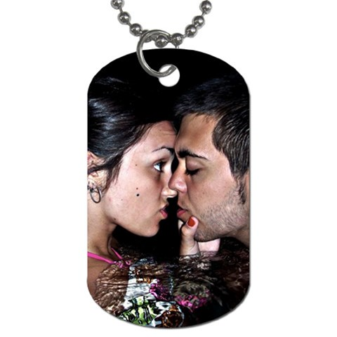 Helen An D Sergio By Lydia   Dog Tag (one Side)   Y52sz8grrzc7   Www Artscow Com Front