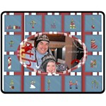 Christmas Plaid Gift Fleece - Fleece Blanket (Medium)