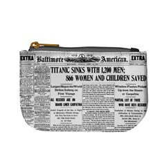 Newspaper Coin Purse By Jorge   Mini Coin Purse   Cq3oybs3uzir   Www Artscow Com Front