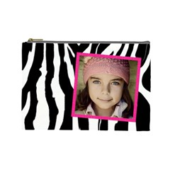 Zebra Cosmetic Bag By Jorge   Cosmetic Bag (large)   1w042sbngu00   Www Artscow Com Front