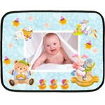 Blankie Bunny Baby Boy Mini Fleece - Mini Fleece Blanket