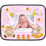 Blankie Bunny lavendar love Baby Mini Fleece - Mini Fleece Blanket