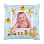 Blankie Bunny Baby Boy Double sided cushion - Cushion Case (Two Sides)