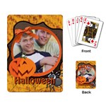 Hallooween card - Playing Cards Single Design