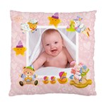 Blankie Bunny Baby girl Double sided cushion - Cushion Case (Two Sides)