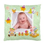 Blankie Bunny Pistachio  Baby Double sided cushion - Cushion Case (Two Sides)