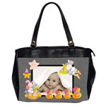 100% love almost black blankie baby oversized diaper bag - Oversize Office Handbag (Two Sides)