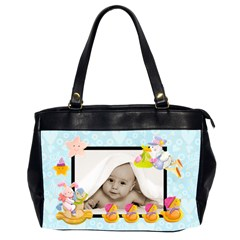 Pale Blue Blankie Baby Oversized Diaper Bag By Catvinnat   Oversize Office Handbag (2 Sides)   4iakl3ys8t2e   Www Artscow Com Front