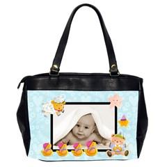 Pale Blue Blankie Baby Oversized Diaper Bag By Catvinnat   Oversize Office Handbag (2 Sides)   4iakl3ys8t2e   Www Artscow Com Back