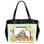 pistachio blankie baby oversized diaper bag - Oversize Office Handbag (2 Sides)