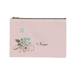 Cosmetic Bag (large)    Flowers 5 By Jennyl   Cosmetic Bag (large)   U58efhx5ahj2   Www Artscow Com Front
