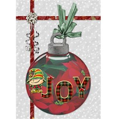 Joy Christmas Card By Lil    Greeting Card 5  X 7    U3cextfjus3j   Www Artscow Com Front Cover