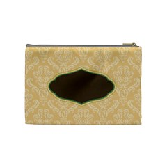 Green, Brown, & Ivory Medium Cosmetic Bag By Klh   Cosmetic Bag (medium)   Ou45oy4la98o   Www Artscow Com Back