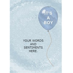 Baby Boy Arrival Card By Lil    Greeting Card 5  X 7    Ljnlrpxwqdiy   Www Artscow Com Back Inside