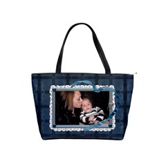 Blue Family Shoulder Handbag By Lil    Classic Shoulder Handbag   9sb8qk2sdokd   Www Artscow Com Front