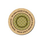 Coaster with Dreams Quote - Rubber Coaster (Round)