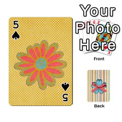 Frolicandplay Cards By Sheena   Playing Cards 54 Designs   902c7x9ntq3u   Www Artscow Com Front - Spade5
