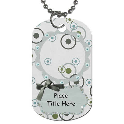 Simple Simon Circles Dog Tag by BitsOScrap Front