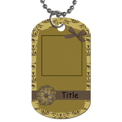 A Hint Of Elegance Demask Dog Tag By Bitsoscrap   Dog Tag (one Side)   Wjagp9ndzcxp   Www Artscow Com Front