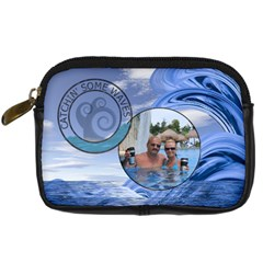 Catchin  Some Waves Camera Case By Lil    Digital Camera Leather Case   T2g7g6lw1jkd   Www Artscow Com Front