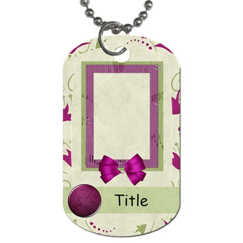 Glorious Spring Floral Dog Tag By Bitsoscrap   Dog Tag (one Side)   Zkb879581fhc   Www Artscow Com Front