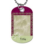 Glorious Spring Floral2 Dog Tag - Dog Tag (One Side)