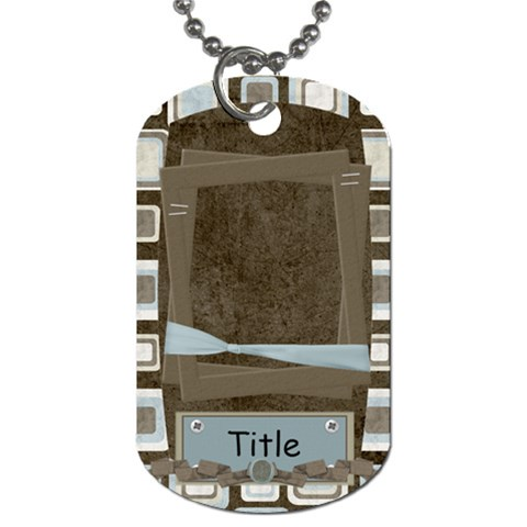 Little Dreamer Blocks Dog Tag By Bitsoscrap   Dog Tag (one Side)   Gqx7k9hssu7n   Www Artscow Com Front