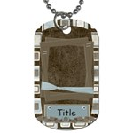 Little Dreamer Blocks Dog Tag - Dog Tag (One Side)