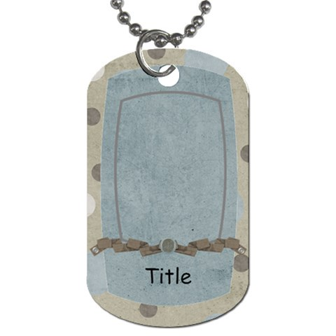 Little Dreamer Dots Dog Tag by BitsOScrap Front