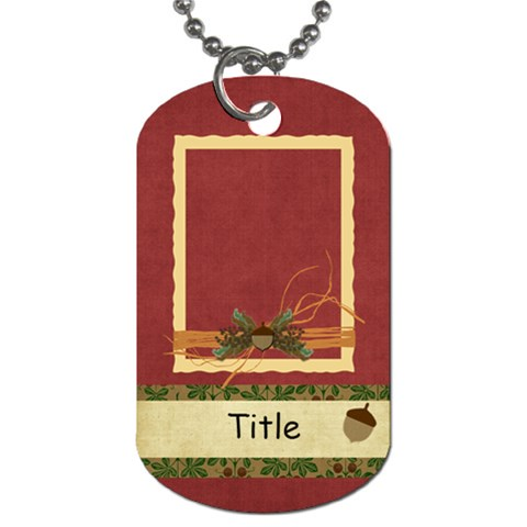 Framing Autumn Acorn Dog Tag By Bitsoscrap   Dog Tag (one Side)   2nrnyogf8heg   Www Artscow Com Front