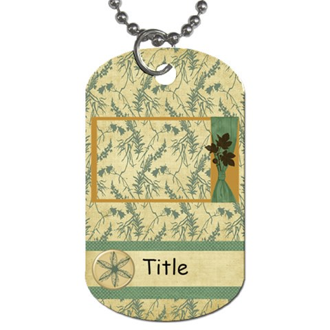 Framing Autumn Leaves Dog Tag By Bitsoscrap   Dog Tag (one Side)   3969y9e33y4z   Www Artscow Com Front