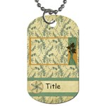 Framing Autumn Leaves Dog Tag - Dog Tag (One Side)