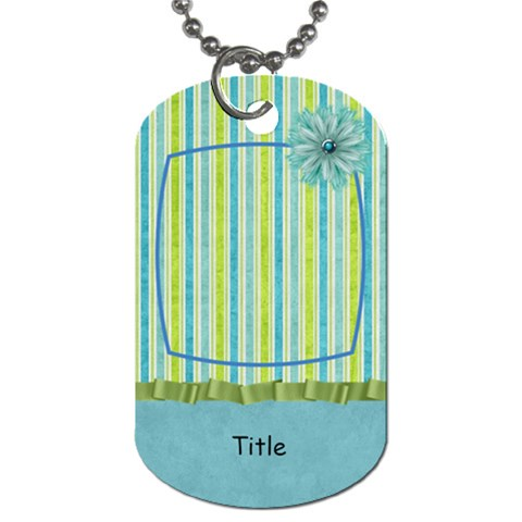 Summer Breeze Pinstripe Dog Tag By Bitsoscrap   Dog Tag (one Side)   6ql9qz28kktp   Www Artscow Com Front