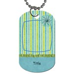 Summer Breeze Pinstripe Dog Tag - Dog Tag (One Side)