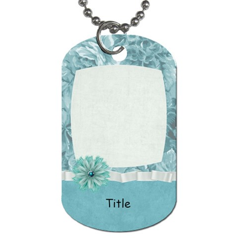 Summer Breeze Blue Floral Dog Tag By Bitsoscrap   Dog Tag (one Side)   Pwcsjedhl6sg   Www Artscow Com Front