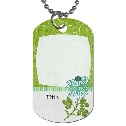 Summer Breeze Flower Dog Tag By Bitsoscrap   Dog Tag (one Side)   W3x0yuyy007i   Www Artscow Com Front