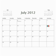 2011/07 2012/12 General By Cure   Wall Calendar 11  X 8 5  (18 Months)   5zwk0uf2d5bb   Www Artscow Com Jul 2012