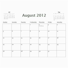 2011/07 2012/12 General By Cure   Wall Calendar 11  X 8 5  (18 Months)   5zwk0uf2d5bb   Www Artscow Com Aug 2012
