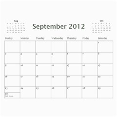 2011/07 2012/12 General By Cure   Wall Calendar 11  X 8 5  (18 Months)   5zwk0uf2d5bb   Www Artscow Com Sep 2012