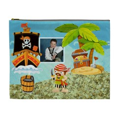 Pirate Pete Cosmetic Bag Extra Large By Catvinnat   Cosmetic Bag (xl)   Am2f3xed0llc   Www Artscow Com Front
