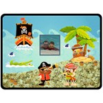 Pirate Pete I see no ships fleece - Fleece Blanket (Extra Large)