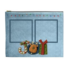 Joy Christmas Cosmetic Bag By Catvinnat   Cosmetic Bag (xl)   Kzntb2u4n2aa   Www Artscow Com Front