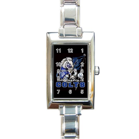 Ladies Colts Watch By Dominique   Rectangle Italian Charm Watch   Qntbll77lfju   Www Artscow Com Front
