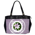 Lacy Lady Lavendar oversized office bag - Oversize Office Handbag (Two Sides)