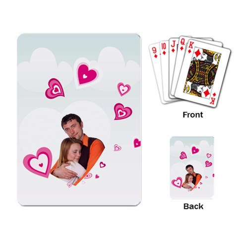 Heart And Love By Wood Johnson   Playing Cards Single Design   Lbrvwsmol35m   Www Artscow Com Back