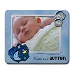 Cute as a button BOY - Mousepad - Large Mousepad