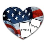 Proud to be an american - Memopad - Mousepad (Heart)